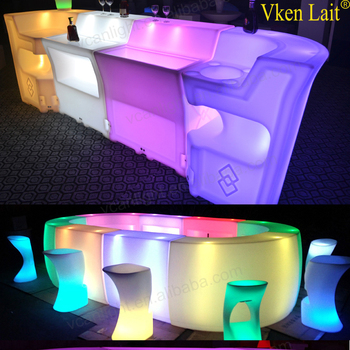 Delicieux Plastic Garden Bar Illuminated Led Furniture Dubai