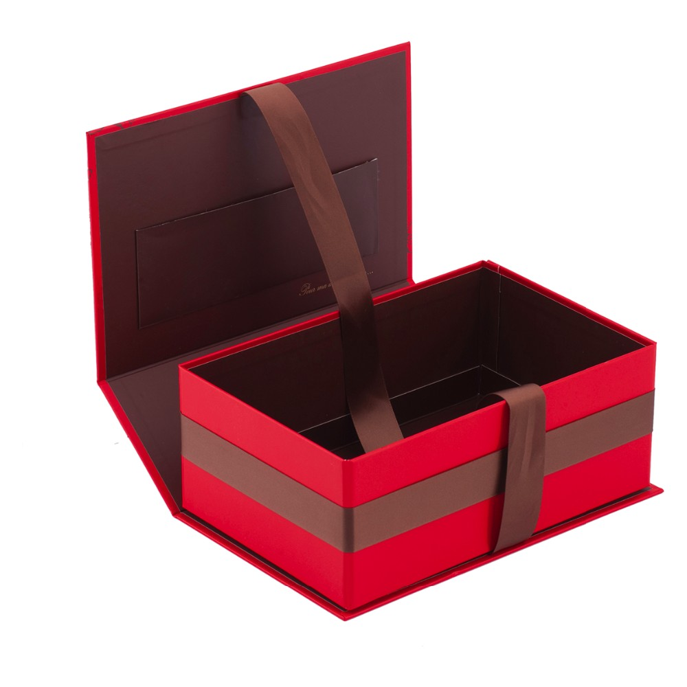 Matt Lamination Big Folding Gift Box With Ribbon Buy Folding Gift Box Gift Box