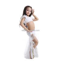 milk silk Children's Stage Costume children ballroom dance wear
