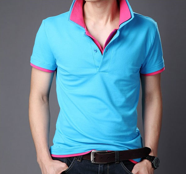 Stylish design color combination man polo t shirts Wholesale polo t shirts