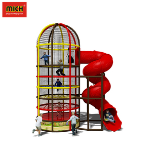 Spider tower with slide plastic soft play