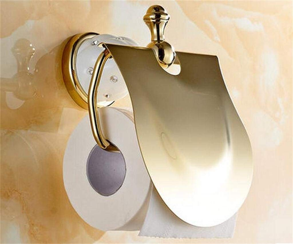 NAERFB The paper towel holder Gold toilet paper toilet toilet paper in the toilet paper in boxes boxes communities bath rooms antique toilet paper in boxes (Color 2)#