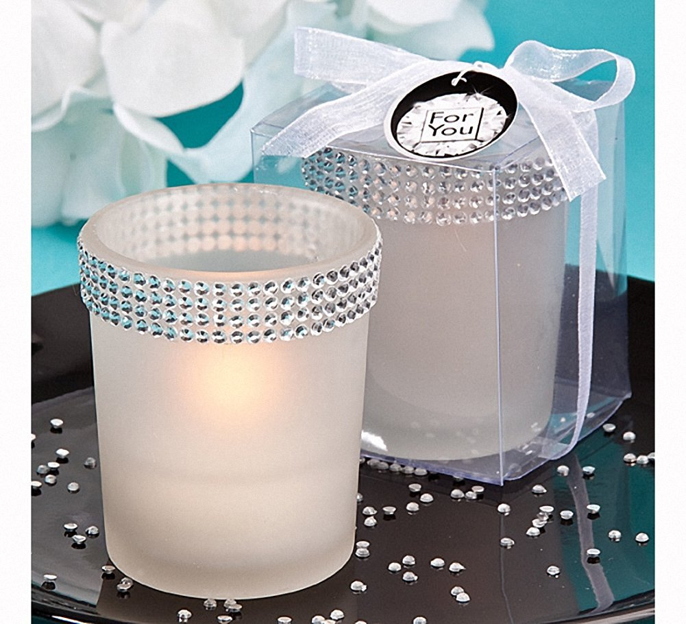 <em>Bling Collection</em> White Candle Holders, 60