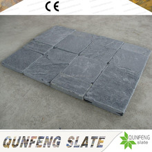 Competitive Price Natural Tumbled Stone Black Slate Paving