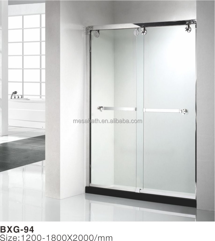 2017 new stainless steel security clear glass shower screen enclosure door with factory wholesale price