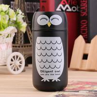 220ml Owl Cartoon Animal Stainless Steel Vacuum Flask Cup Outdoor Water Bottle Heat Insulation Vacuum Flasks Retail