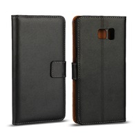 luxury Magnetic black flip folio genuine Wallet leather stand phone case cover for iphone 7 with card holder
