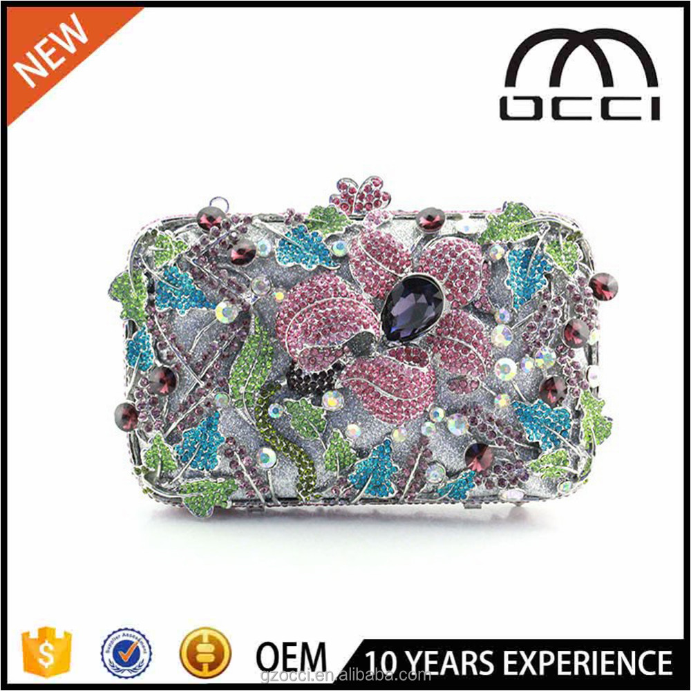 china wholesale clutch purse ladise new product 2017 crysal purse SC2289