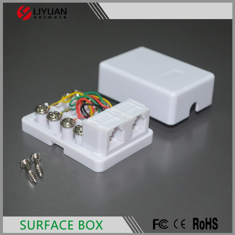 Rj45 Single Port Cat6 Utp Wall Mount Surface Box
