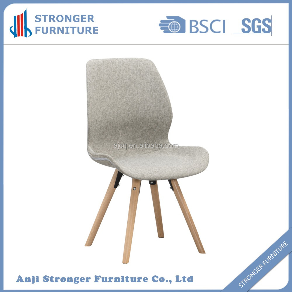 Morden plastic dinnig chair with round wood leg