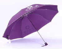 Totes Manual Umbrella with Printed pouch