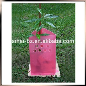 PP Corflute Material Square Tree Protectors for Plant Guard