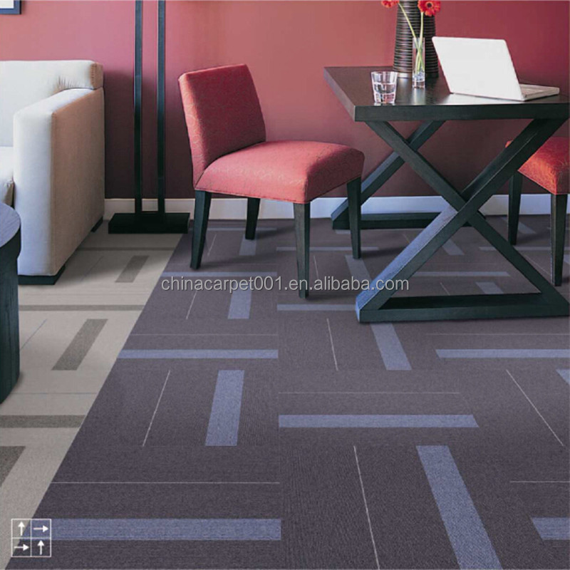Modern Removable Fireproof Commercial Office Nylon Tile Carpet (Rhine river Series)