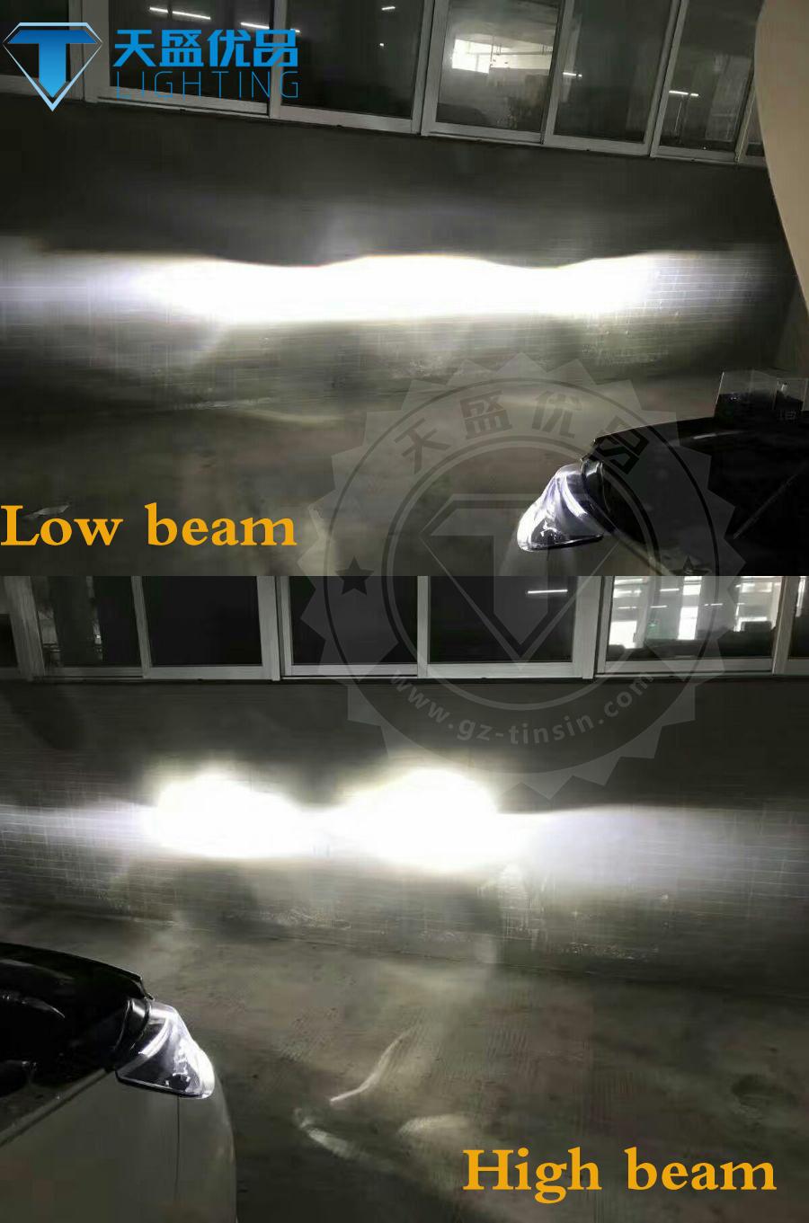 High power high lumen 60w 8400lm Turbine5 T5 led light auto parts led  headlight bulb h4 super bright h7 h11 led bulb for motors, View led h4