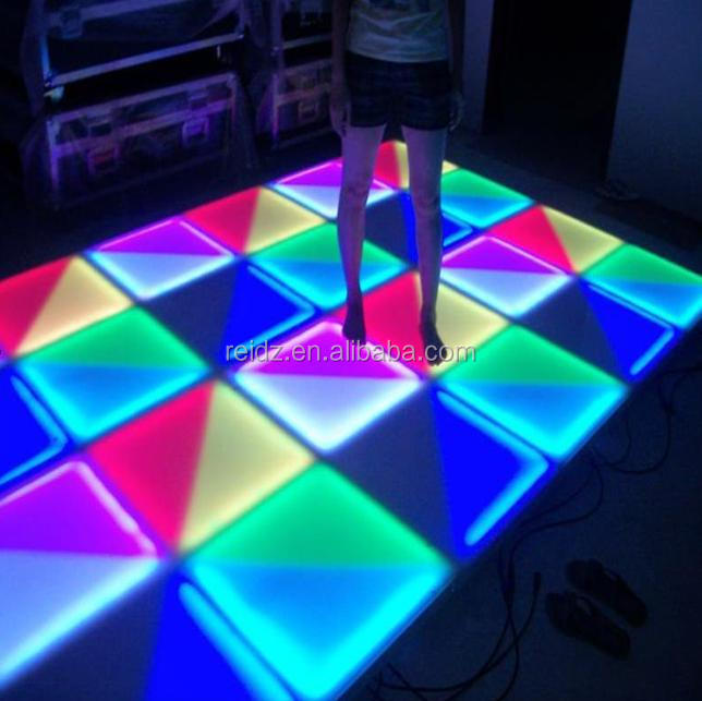 professional Music DMX control portable acrylic led floor tile light used dance floor for sale : stage floor lighting - azcodes.com