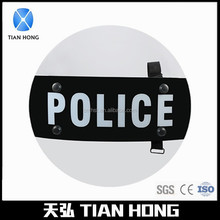 Impact Resistant Lightweight Polycarbonate Round Police Riot Shield Diameter:570mm
