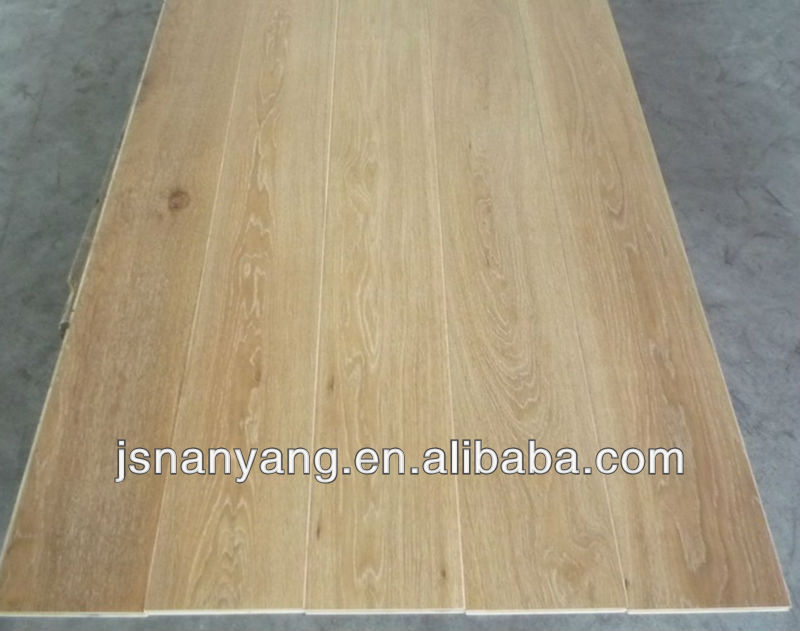 white brushed oak 3 layer engineered parquet flooring