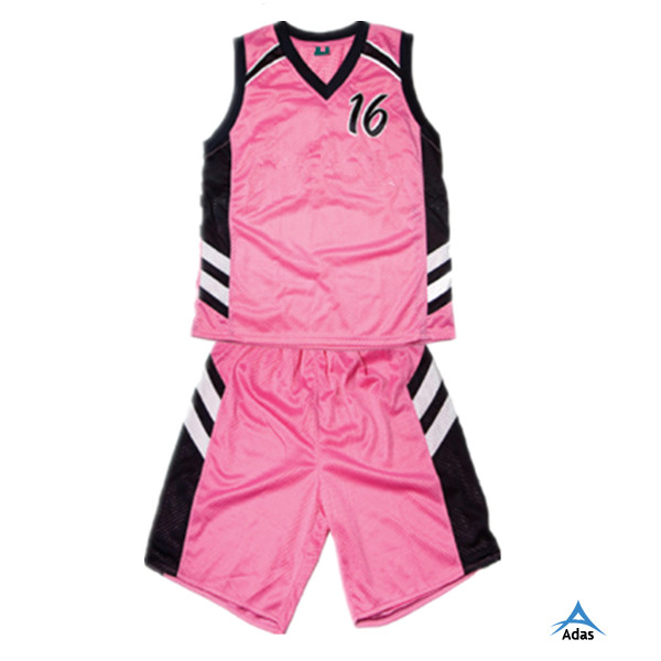 fad206ef9e7 Custom Design Pink Reversible Women s Basketball Uniform - Buy ...