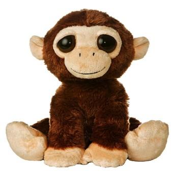 Wholesale Cute Animal Type Plush Toys 30cm Happy Monkey Stuffed