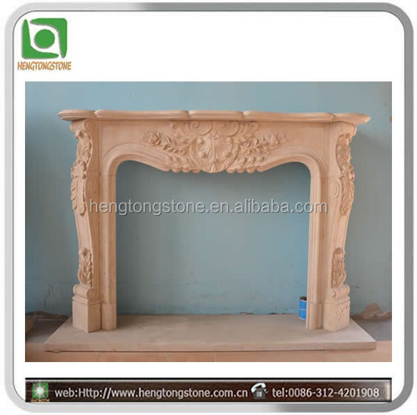 European Style Mable Gas Burning Fireplace