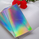rainbow holographic laser wrapping paper board cardboard for box printing