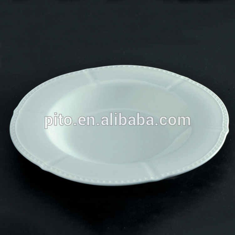 New Design unique shape ceramic porcelain soup plate