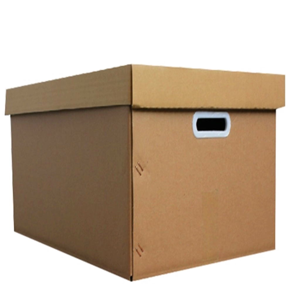 Brown Paper Corrugated Handholds Archive Carton Box