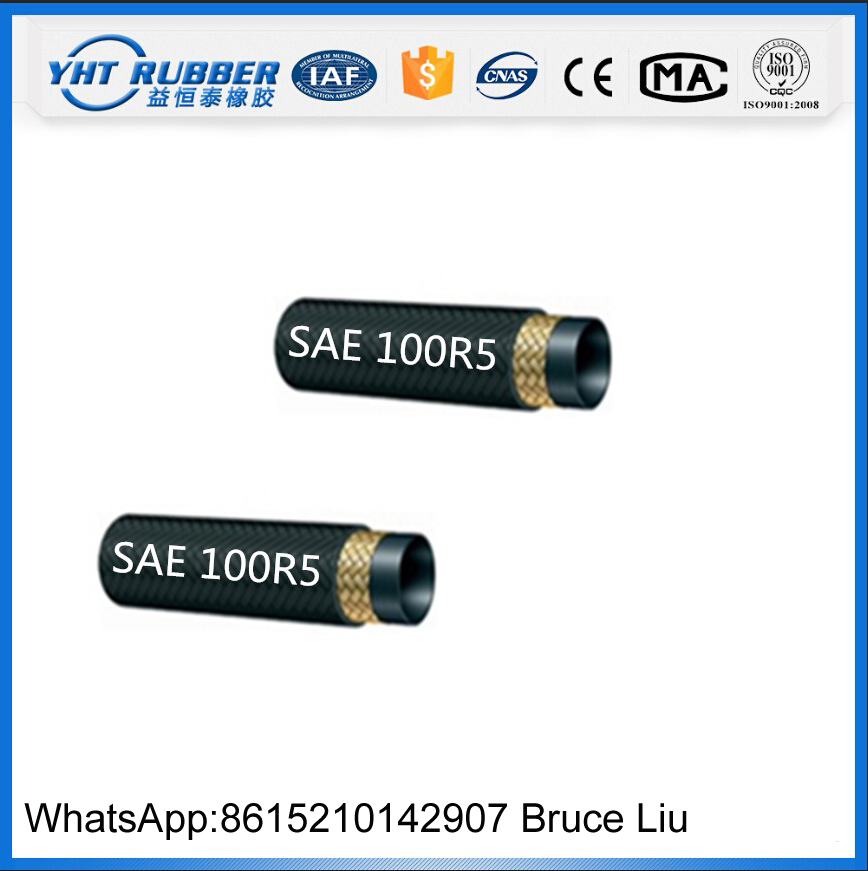 Textile Covered Single Braid SAE100 R5 Hydraulic Hose