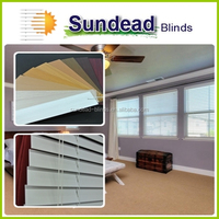 2 inch white faux wood blinds for windows , curtain and office blinds with valance
