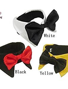 Usw Bandanas & Hats / Tie / Necklaces for Dogs / Cats Black / White / Yellow Spring/Fall Wedding / Christmas S / M / L / XL / XXL Cotton