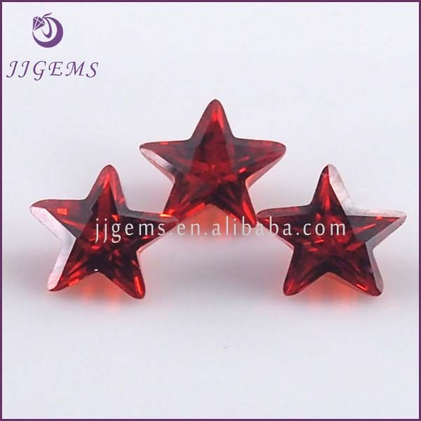synthetic cubic zirconia gems star cut red gemstone names
