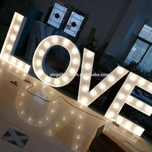 Large Marquee LOVE Letters for Wedding Stage Decoration