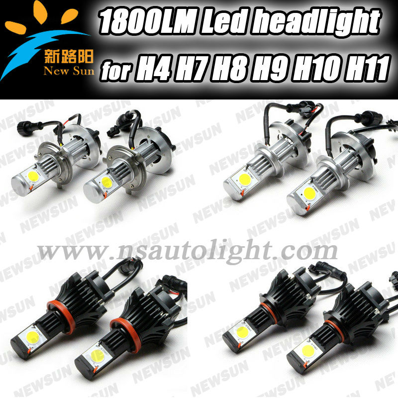 2013 Newest led motorcycle headlight, 50W 3600LM for skoda octavia led headlight for H7, H8 H9,.H10, H11 H17