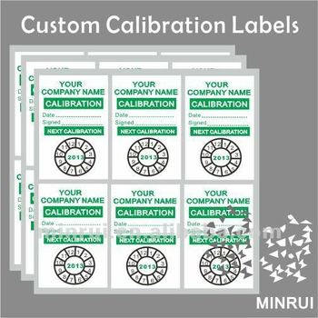 Tamper Proof Calibration Seals Custom Calibration Stickers