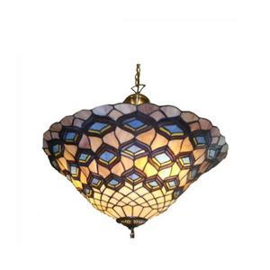 Tiffany Retro style stained glass flower pattern pendant Ceiling Lamp