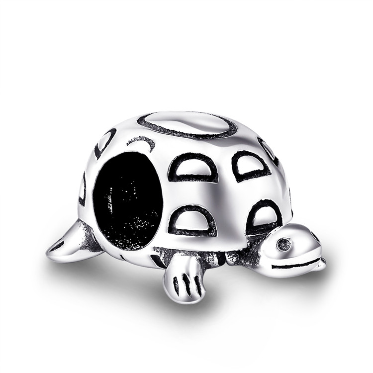 LYB02707 Turtle Charms Antique Tibetan Silver Tone Sea Tortoise pendants charms wholesale fashion jewelry thailand
