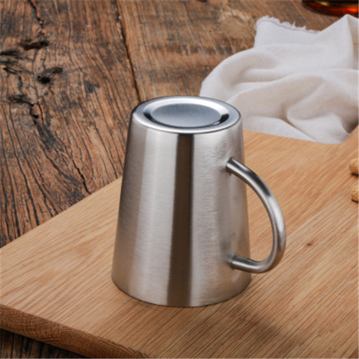 New products Stainless Steel Double Wall Coffee Mugs / Tea Cups