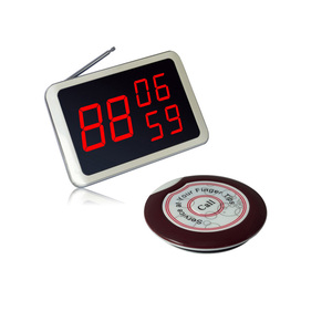 Wireless remote control Supermarket queue call system for people paying 1display+5buttons