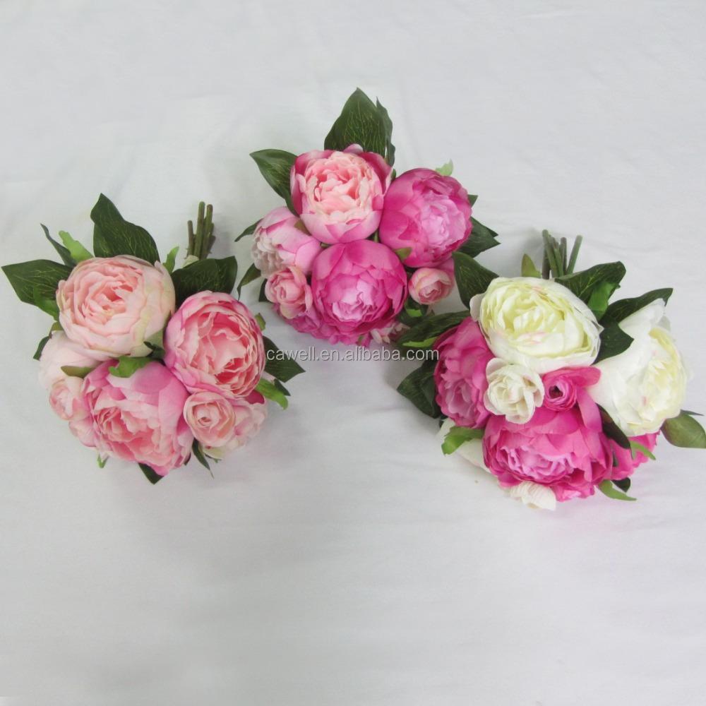 Real Feel Fake Peony Bouquet Flower Buy Bouquet Flowermini