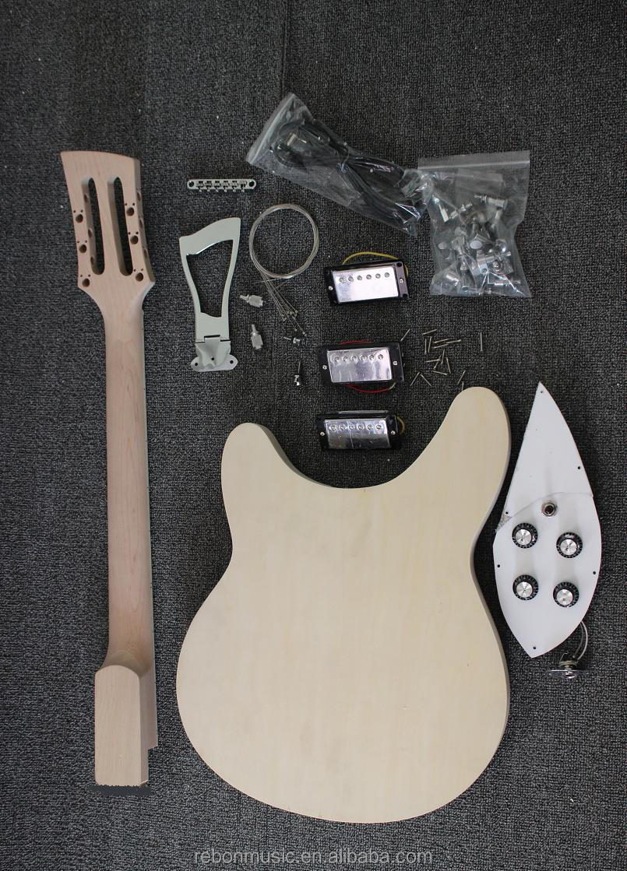 weifang rebon 12 string unfinished diy electric guitar kit buy electric guitar cheap guitar. Black Bedroom Furniture Sets. Home Design Ideas