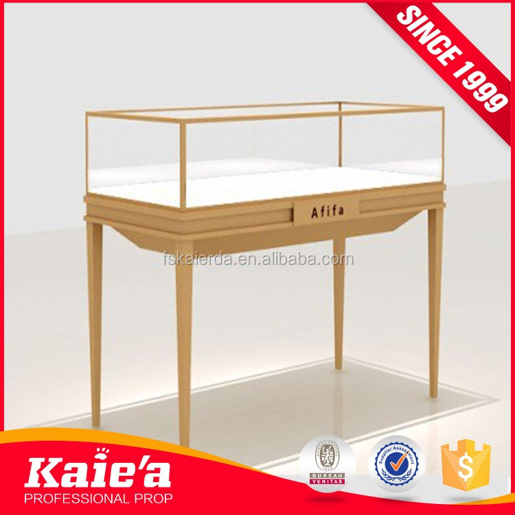 tempered glass jewelry display table furniture and case