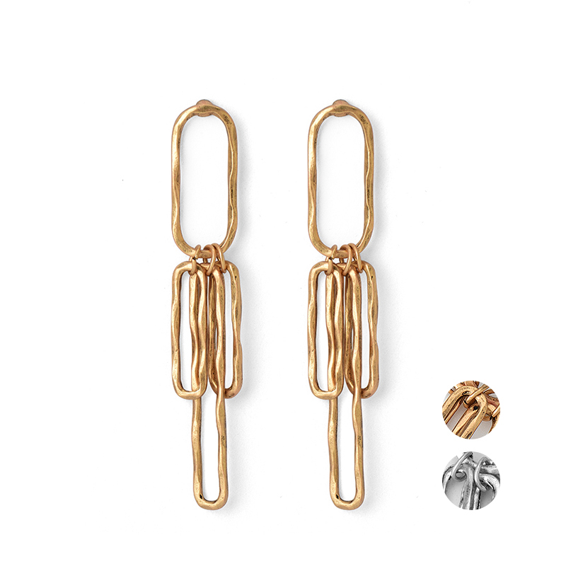 Simple Europe Statement Bar Pendant Stud <strong>Earrings</strong>, Zinc Alloy Jewelry Antique Gold Silver Color Stud <strong>Earrings</strong> For Girls