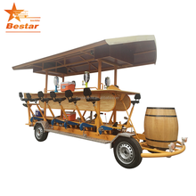 2018 new design beer bike manufacturer for fifteen person