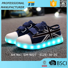 Children Canvas Kids Wholesale Rechargeable Shoes That Light Up