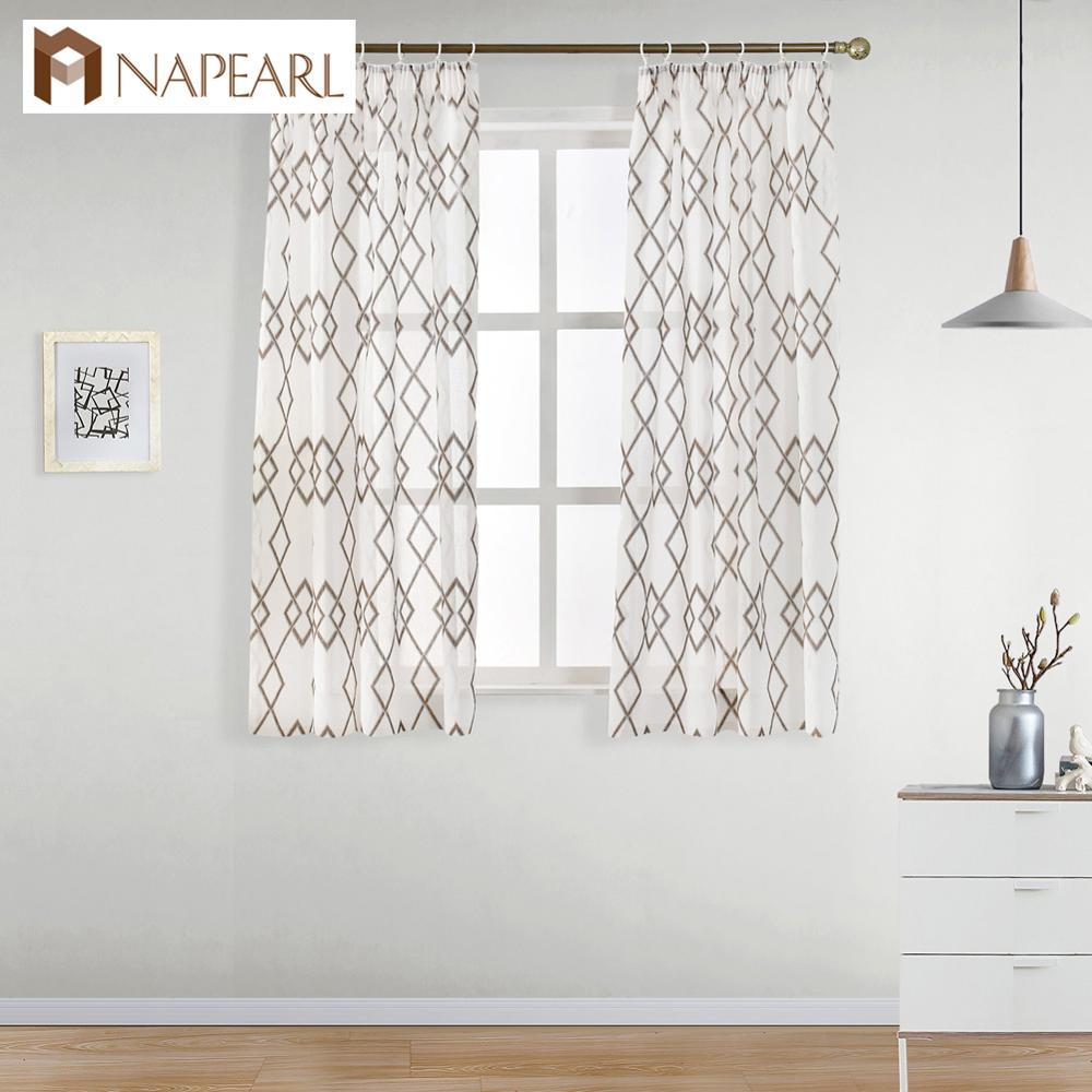 """NAPEARL caliente en el mercado europeo 59 """"x 48"""" faux cortina de lino para la pequeña ventana"""
