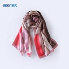 Cheap hot products new printed silk satin scarf for lady