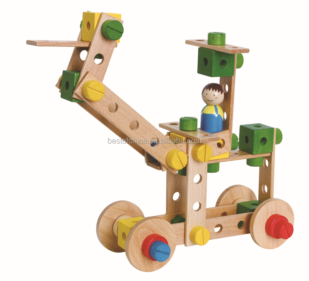 Construction Toys Product : Best selling wooden toys large construction kits pcs