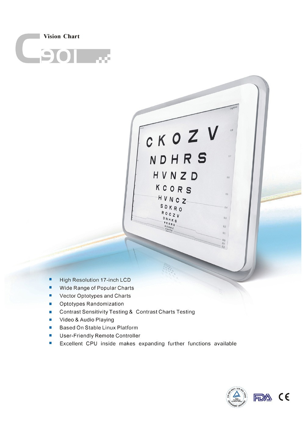 Lcd Acuity Digital Vision Eye Chart Full Letter Snellen Chart Buy