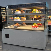 Gebak Rechtop Roterende Cake Display Koeler Koelkast Commical Bakkerij Showcase Kast