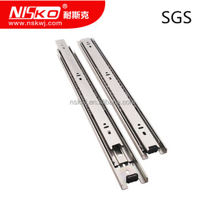 Full extension ball bearing stainless steel soft close drawer slide,furniture drawer rail, ss drawer runner